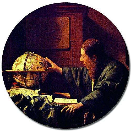 Bilderdepot24 Bild auf Leinwand   Jan Vermeer Der Astronom in 40x40 cm als r&es Wandbild   Wand-deko Dekoration Wohnung alte Meister   180185-40x40-R&