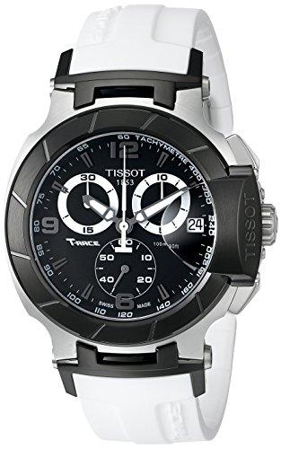 Tissot T0484172705705 - Reloj de Caballero de Cuarzo, Correa de Goma Color Blanco