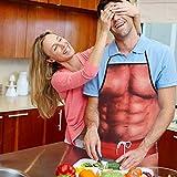 Muskelmann Schürzen Kreative Sexy Küchen Schürzen Lustiges Schutzblech Geschenke für Männer oder Freunde (Type1) - 2