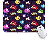 ECOMAOMI 可愛いマウスパッド 面白い漫画の鳥とのシームレスなパターン 滑り止めゴムバッキングマウスパッドノートブックコンピュータマウスマット