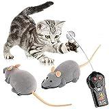 Luccase Elektrisch Ratte mit Fernbedienung 21.5x13x10cm ABS Spaß Wireless Remote Control Plüsch Maus Ratte Tag Dummkopfs Geschenk für Kinder, Grau
