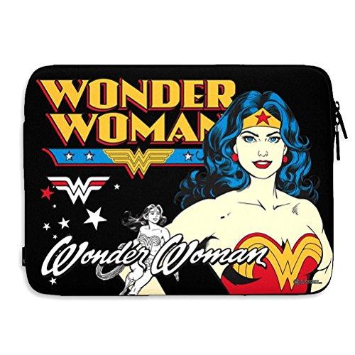 Official DC Comics Wonder Woman Slim Soft Laptop Sleeve Cover Case 13/15 Inch