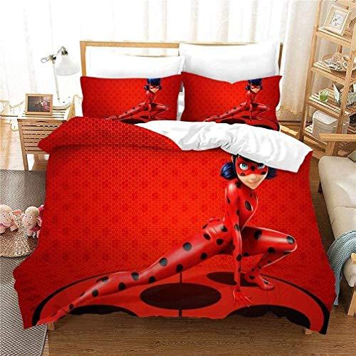 QWAS Ropa de cama infantil de microfibra, muy cómoda, funda nórdica de bebé (A01, 140 x 210 cm + 80 x 80 cm x 2)