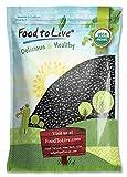 Organic Black Turtle Beans, 5 Pounds - Dried, Non-GMO, Kosher, Raw, Sproutable, Vegan, Bul...