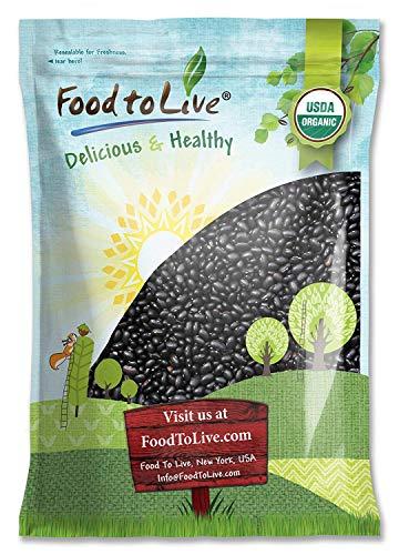 Organic Black Turtle Beans, 10 Pounds - Dried, Non-GMO, Kosher, Raw, Sproutable, Vegan, Bulk
