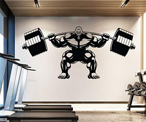 adesivo da parete adesivo muro Gorilla Muscle Gym Fitness Motivation Sport Art Decal Sticker per palestra per sala fitness per sala sportiva