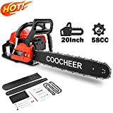 attempting 58CC Gas Engine 20 Inch Guide Board Chainsaw 2 Stroke Gasoline Powered Handheld Chain Saw...