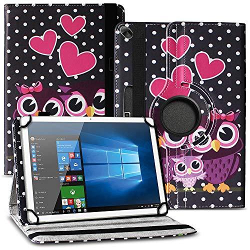 Tablet Schutz Hülle kompatibel für Lenovo Miix 320 310 300 Tasche aus hochwertigem Kunstleder mit Standfunktion 360° Drehbar Cover Case, Farben:Motiv 4