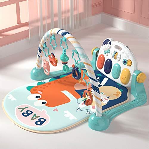 Gong Alfombrilla de Juego con Arcos de Juego y música, Manta de bebé con Juguetes, música y Arcos de Juego Blandos,Verde