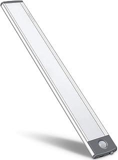 Motion Sensor Closet Light 54 LED Under Cabinet Night Lighting, Rechargeable Ultra Thin Magnetic Closet Lighting, 350lm Le...