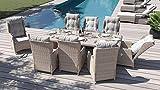 ARTELIA Bariya XL Polyrattan Sitzgruppe Lounge Esstisch-Set - Rattan Premium Gartenmöbel-Set für Garten, Wintergarten und Balkon, Balkonmöbel, Terrassenmöbel Sandfarben