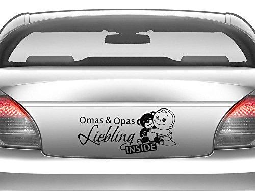 GRAZDesign 745026_10_010G Auto-Aufkleber Baby fürs Auto Spruch Omas & Opas Liebling   Geschenk zur Geburt - Heckscheiben-Aufkleber (22x10cm // 010 weiß)