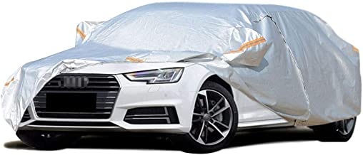 Car Clothing/Compatible with Audi A4 / Four Seasons Universal Mobile Garage Car Protection Cover Snow Antifreeze Car Cover Indoor and Outdoor Car Cover (Color : Silver Grey)