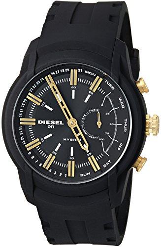 Diesel Unisex Diesel ON Armbar Hybrid Smartwatch Black Silicone,Model (DZT1014)