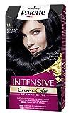 Schwarzkopf Palette Intensive Creme Color - Tono 1.1 cabello Negro Azulado - Coloración Permanente de Cuidado con Aceite de Marula – Óptima cobertura de canas – Color duradero hasta 8 semanas