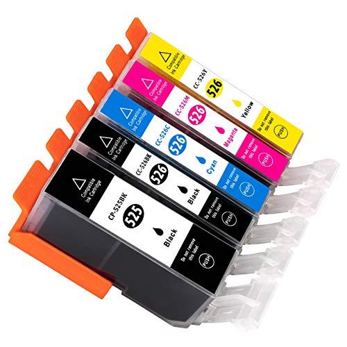 ESMOnline 5 komp. Druckerpatronen zu Canon Pixma MG 5100 5150 5200 5250 5300 5350 6150 6250 8150 8250 MX 715 885 895 IP 4850 4950 IX6550