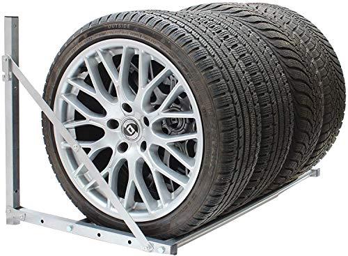 reifenregal, Wand Reifenhalter Reifenhalter Wandmontage Reifenhalter Set Reifenwandhalter für Auto Felgen Reifen Wandhalterung - einfach anzubringen, Maximale Gewichtskapazität -- 300 lbs