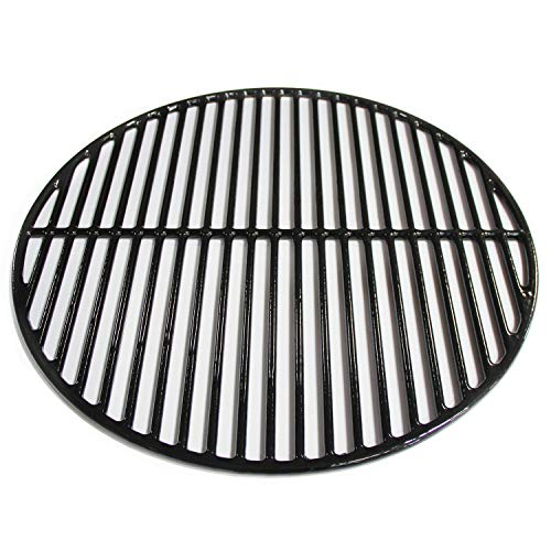 Hongso 18 3/16 Inch Porcelain Coated Cooking Grid Grates Polished Non-Stick Replacement for Large Big Green Egg, Vision Grill VGKSS-CC2, B-11N1A1-Y2A, Accessories,Other Kamado Grill, PCI991