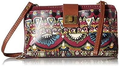 Sakroots womens Large Smartphone Crossbody cross body handbags, Mulberry One World, One Size US