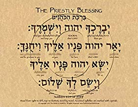 The Priestly Blessing in Hebrew Poster ECO (8.5