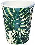 Talking Tables Tropical Paper Cups Fiesta Palm Tree Mexican Luau Hawaiian Cuban Havana 250ml Pack of 8,...