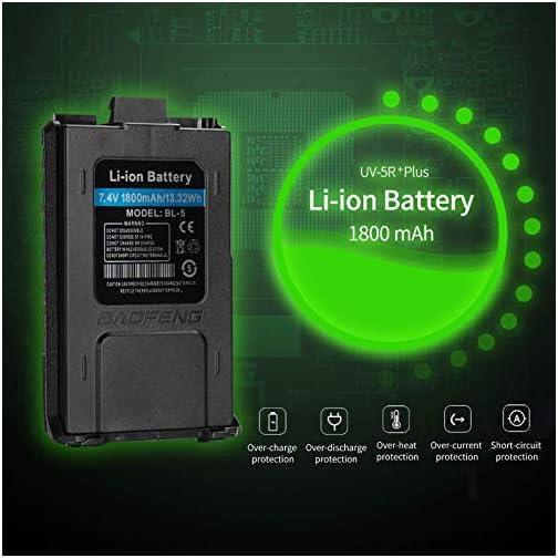 BaoFeng UV-5R Plus Dual-Band 136-174/400-480 MHz FM Ham Two-Way Radio (Black) 5