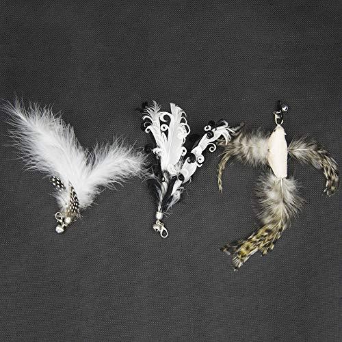 猫じゃらし 猫おもちゃ ねこおもちゃ 鳥の羽棒 鈴付き 交換用鳥の羽根 似鳥1枚付き 替え羽2枚付き (交換用 3種入)
