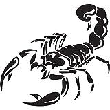 Nbfu Decals Animal Scorpion Silhouette Tribal Tattoo 1 (Black) (Set Of 2) Premium Waterproof Vinyl Decal Stickers For Laptop Phone Accessory Helmet Car Window Bumper Mug Tuber Cup Door Wall Decoration