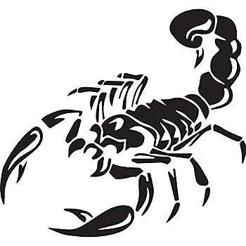 Nbfu Decals Animal Scorpion Silhouette Tribal Tattoo 1  Black   Set Of 2  Premium Waterproof Vinyl Decal Stickers For Laptop Phone Accessory Helmet Car Window Bumper Mug Tuber Cup Door Wall Decoration