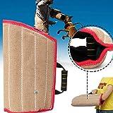 Colinsa Hunde Trainings Kit Schutzhülle Armschutz + Dauerhafte Jute für Ausbildung junger Hund mittlerer Größe Hundetraining Supplies,45x29cm