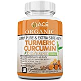 Organic Ultra Pure and Extra Strength (1650 mg) Turmeric Curcumin Extract...