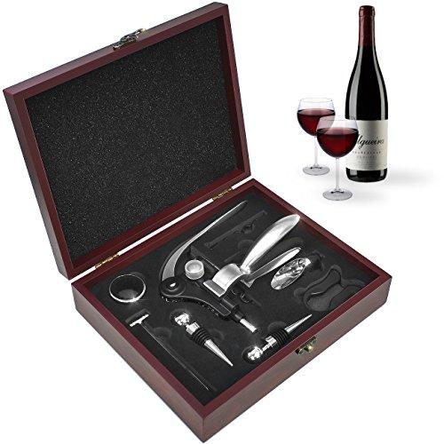 Sorbus Wine Opener Gift Set Corkscrew Kit— Deluxe 9 Pieces Wine Tool Set...