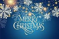 Amxxy 5x3ftビニールクリスマステーマ写真背景抽象ゴールドライトファキュラスノーフレーク花びらメリークリスマスバナー新生児大人のポートレート写真背景クリスマスパーティーの装飾スタジオ小道具