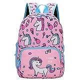 POWOFUN Kids Toddler Preschool Travel Backpack Cute Cartoon Schoolbag Backpack Bookbag (Unicorn Pink)