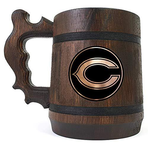 Chicago Bears Beer Mug, NFL Beer Gift, Sport Beer Stein, American Football Team, Beer Lover Gift, Beer Stein, Gift for Gamer, Gift for Him, Engraved Beer Mug