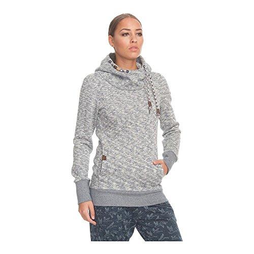Ragwear Sweater Damen Beat 1721-30013 Grau meliert Indigo Melange 2051, Größe:L