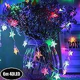 Sterne Lichterkette Galaxer 40 Stück Führte Stern nacht schnur lichter