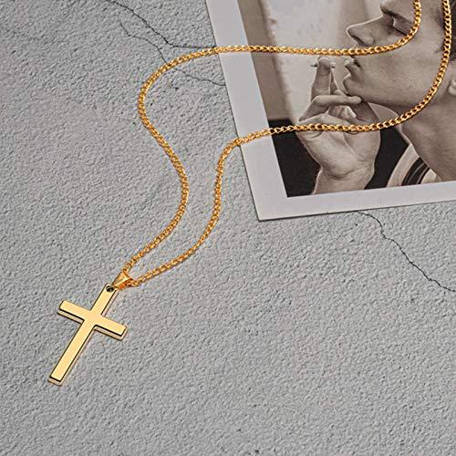 LCUK Colgantes góticos Vintage, Collar Cruzado, Collares de Estilo Callejero Fresco para Hombres, Mujeres, Cadena Inusual en el Cuello, Cadenas, joyería Punk