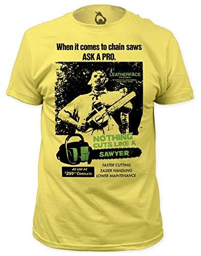 T-shirt Texas Chainsaw Massacre – Cuts Like a Sawyer (slim fit) M – giallo