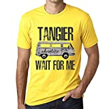 One in the City Hombre Camiseta Vintage T-Shirt Gráfico Tangier Wait For Me Amarillo
