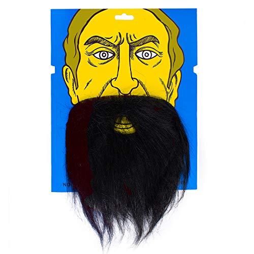 Oblique Unique® Falscher unechter Bart für Fasching Karneval Party Wikinger Zwerg Alter Mann Kostüm mit Gummiband Vollbart Schwarz