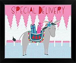 CANVAS ON DEMAND Special Delivery Black Framed Art Print, 23