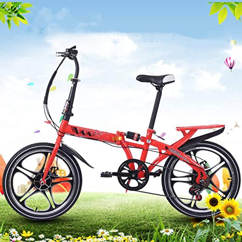 Folding Bike Women's met variabele snelheid Schokdbreker Adult Superlight Student Children's fiets met mand,3