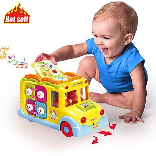 ACTRINIC Baby Spielzeuge Pädagogisches Intellektuelles Bus ,Verschiedenen Tiergeräuschen/Musik/omnidirektionalem Bewegung/bestes Geschenk Spielzeuge für 12M+  Jungen Mädchen
