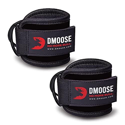 DMoose Fitness Fußschlaufen Kabelzug mit D-Ring gepolstert für Kickbacks, Gesäß- und Beintraining, Knöchelschlaufen zur Verbesserung der Bauchmuskulatur, Fußschlaufen für Damen und Herren