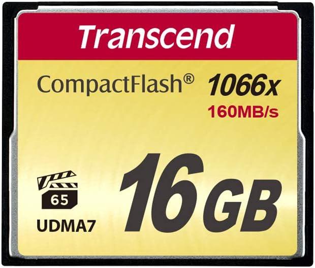 Transcend 16GB CompactFlash Memory Card 1000x (TS16GCF1000)