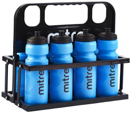 Botellas de agua de 80 cl y caja de plástico Mitre
