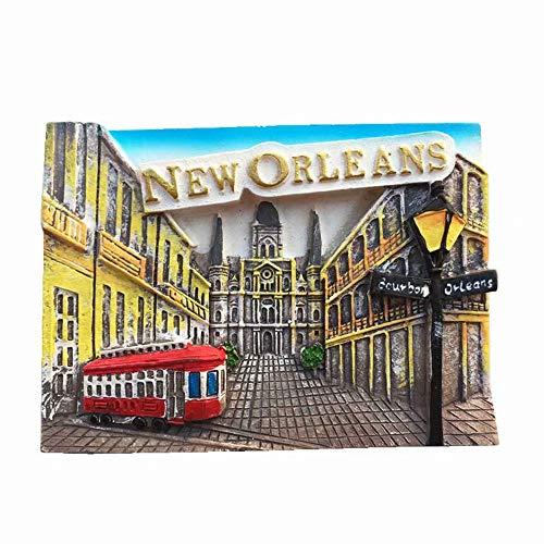 Weekino Nueva Orleans Estados Unidos América Imán de Nevera 3D Resina de la Ciudad de Viaje Recuerdo Colección de Regalo Fuerte Etiqueta Engomada refrigerador