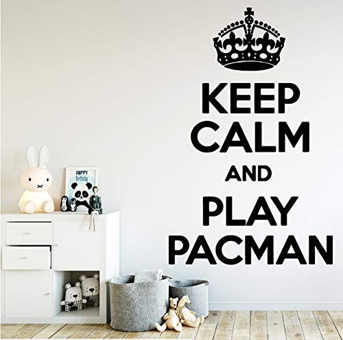 Pacman Zitat Wandaufkleber Kunst Aufkleber Wandkunst Aufkleber Wandbilder Vinyl Aufkleber Haus Dekoration Zubehör 30X47Cm