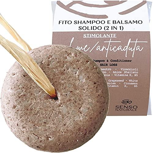 Senso Naturale Shampoo Solido STIMOLANTE Anticaduta Ecologico e Vegano - capelli deboli, anti...